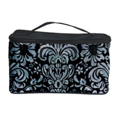 Damask2 Black Marble & Ice Crystals (r) Cosmetic Storage Case by trendistuff