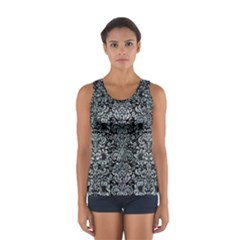 Damask2 Black Marble & Ice Crystals (r) Sport Tank Top