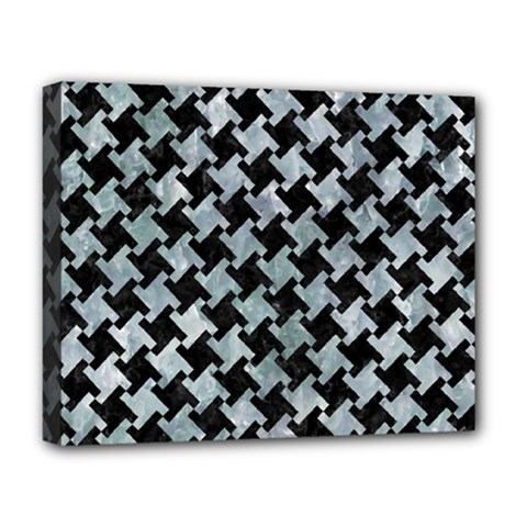 Houndstooth2 Black Marble & Ice Crystals Deluxe Canvas 20  X 16   by trendistuff