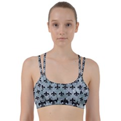 Royal1 Black Marble & Ice Crystals (r) Line Them Up Sports Bra