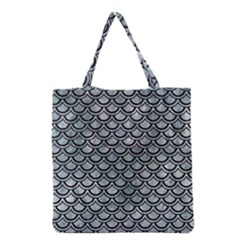 Scales2 Black Marble & Ice Crystals Grocery Tote Bag by trendistuff