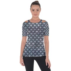 Scales2 Black Marble & Ice Crystals Short Sleeve Top