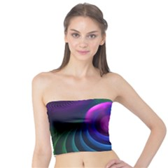 Beautiful Rainbow Marble Fractals In Hyperspace Tube Top by jayaprime