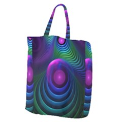 Beautiful Rainbow Marble Fractals In Hyperspace Giant Grocery Zipper Tote by jayaprime