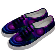 Beautiful Rainbow Marble Fractals In Hyperspace Men s Classic Low Top Sneakers by jayaprime