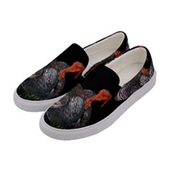 Thanksgiving Turkey Women s Canvas Slip Ons by Valentinaart