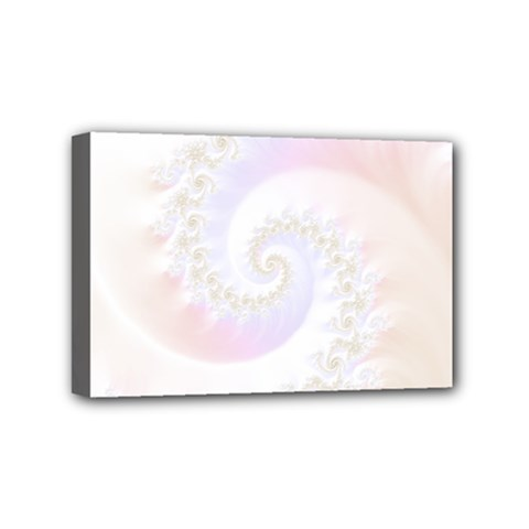 Mother Of Pearls Luxurious Fractal Spiral Necklace Mini Canvas 6  X 4  by jayaprime
