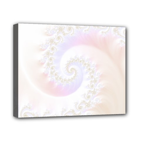 Mother Of Pearls Luxurious Fractal Spiral Necklace Canvas 10  X 8  by jayaprime