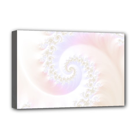 Mother Of Pearls Luxurious Fractal Spiral Necklace Deluxe Canvas 18  X 12   by beautifulfractals