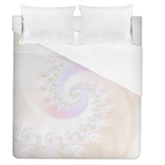 Mother Of Pearls Luxurious Fractal Spiral Necklace Duvet Cover (queen Size) by beautifulfractals