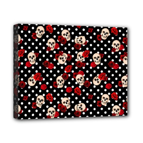 Skulls And Roses Canvas 10  X 8  by Valentinaart
