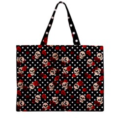 Skulls And Roses Zipper Mini Tote Bag by Valentinaart