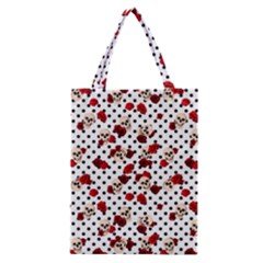 Skulls And Roses Classic Tote Bag by Valentinaart