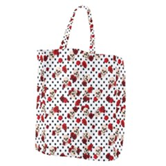 Skulls And Roses Giant Grocery Zipper Tote by Valentinaart