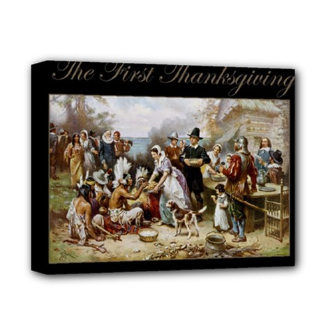 The First Thanksgiving Deluxe Canvas 14  X 11  by Valentinaart