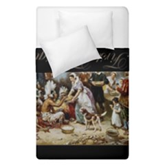 The First Thanksgiving Duvet Cover Double Side (single Size) by Valentinaart