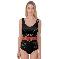 Halloween Bat Black Night Sinister Ghost Princess Tank Leotard  by Alisyart