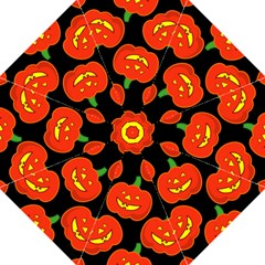 Halloween Party Pumpkins Face Smile Ghost Orange Black Straight Umbrellas by Alisyart