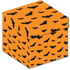 Halloween Bat Animals Night Orange Storage Stool 12   by Alisyart