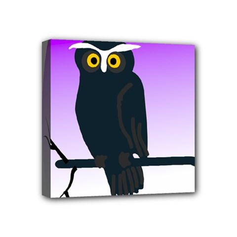 Halloween Owl Bird Animals Night Mini Canvas 4  X 4  by Alisyart