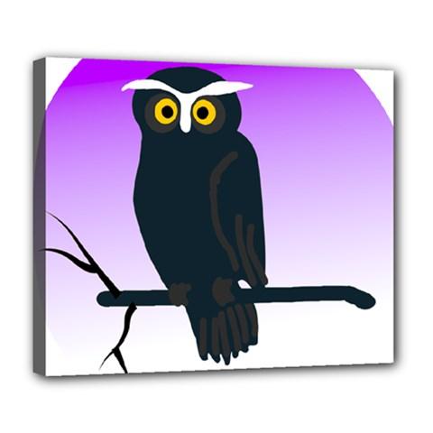 Halloween Owl Bird Animals Night Deluxe Canvas 24  X 20   by Alisyart
