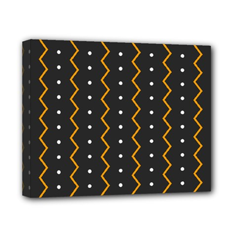 Halloween Zigzag Vintage Chevron Ornamental Cute Polka Dots Canvas 10  X 8  by Alisyart