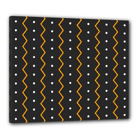 Halloween Zigzag Vintage Chevron Ornamental Cute Polka Dots Canvas 24  X 20  by Alisyart