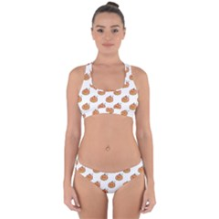 Face Mask Ghost Halloween Pumpkin Pattern Cross Back Hipster Bikini Set