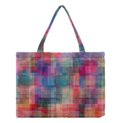 Rainbow Prism Plaid  Medium Tote Bag by KirstenStar
