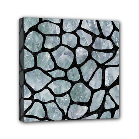 Skin1 Black Marble & Ice Crystals (r) Mini Canvas 6  X 6  by trendistuff
