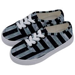 Stripes1 Black Marble & Ice Crystals Kids  Classic Low Top Sneakers by trendistuff