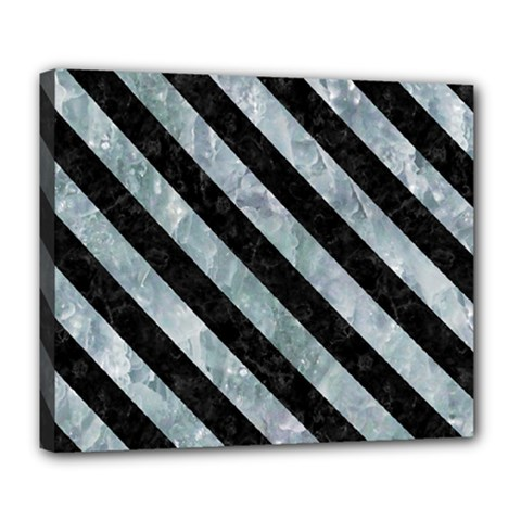 Stripes3 Black Marble & Ice Crystals Deluxe Canvas 24  X 20   by trendistuff