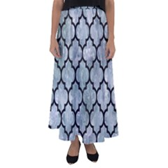 Tile1 Black Marble & Ice Crystals Flared Maxi Skirt by trendistuff