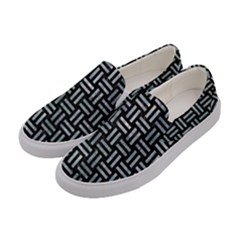 Woven1 Black Marble & Ice Crystals (r) Women s Canvas Slip Ons by trendistuff