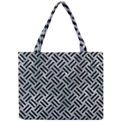 Woven2 Black Marble & Ice Crystals Mini Tote Bag by trendistuff