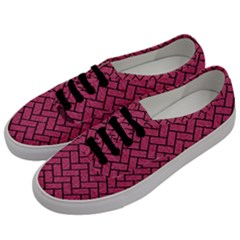 Brick2 Black Marble & Pink Denim Men s Classic Low Top Sneakers by trendistuff