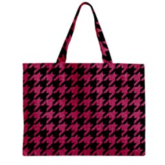Houndstooth1 Black Marble & Pink Denim Zipper Mini Tote Bag by trendistuff