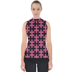 Puzzle1 Black Marble & Pink Denim Shell Top