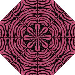 Skin2 Black Marble & Pink Denim Hook Handle Umbrellas (large) by trendistuff