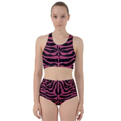 Skin2 Black Marble & Pink Denim (r) Racer Back Bikini Set
