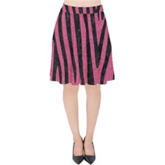 Skin4 Black Marble & Pink Denim (r) Velvet High Waist Skirt by trendistuff