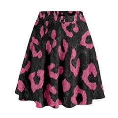 Skin5 Black Marble & Pink Denim High Waist Skirt by trendistuff