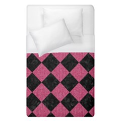Square2 Black Marble & Pink Denim Duvet Cover (single Size) by trendistuff