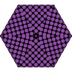 Circles2 Black Marble & Purple Denim (r) Mini Folding Umbrellas by trendistuff