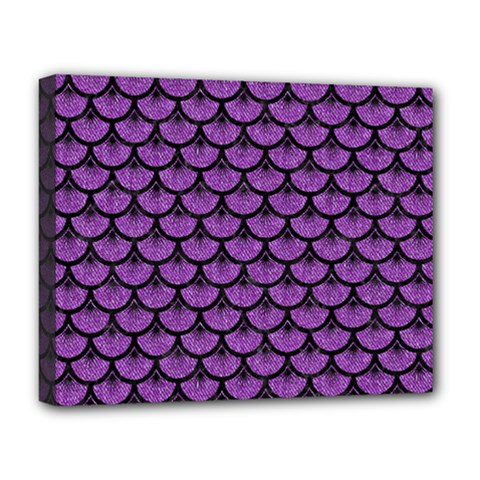 Scales3 Black Marble & Purple Denim Deluxe Canvas 20  X 16   by trendistuff