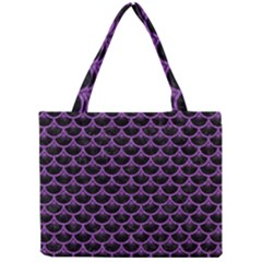 Scales3 Black Marble & Purple Denim (r) Mini Tote Bag by trendistuff