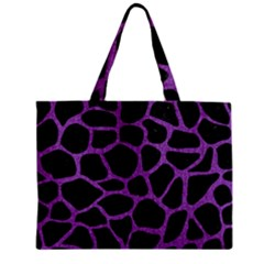 Skin1 Black Marble & Purple Denim Zipper Mini Tote Bag by trendistuff