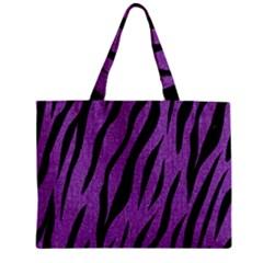 Skin3 Black Marble & Purple Denim Zipper Mini Tote Bag by trendistuff