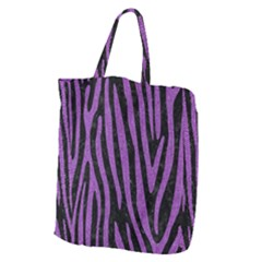 Skin4 Black Marble & Purple Denim Giant Grocery Zipper Tote by trendistuff