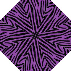 Skin4 Black Marble & Purple Denim (r) Golf Umbrellas by trendistuff